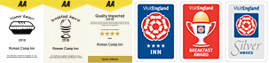 We are rated highly by AA and Enjoy England